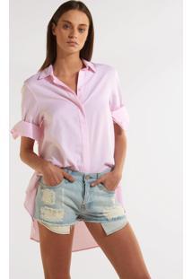 Camisa Rosa Chá Misty 3 Rosa Feminina (Rosa, G)