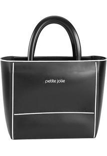 Bolsa Petite Jolie Tote Daily Bag Express Bicolor Feminina - Feminino-Preto