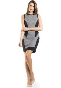 Vestido Lume Malha Tweed - Preto - Feminino - Dafiti