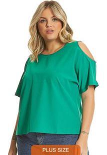 Blusa Plus Size Feminina Verde