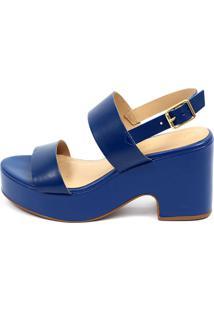 Sandália Anabela Claudia Mourão Ref. 7508 Azul