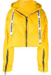Khrisjoy Cropped Puffer Jacket - Amarelo