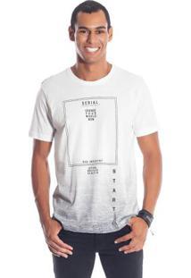 Camiseta Com Efeito Degradê Branco Bgo