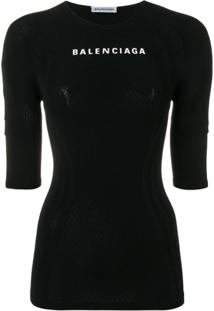 Balenciaga Blusa 'Athletic' - Preto