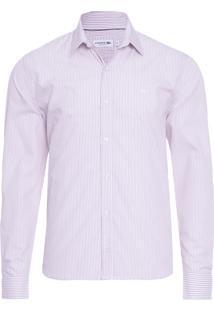 Camisa Masculina Regular Fit - Vinho