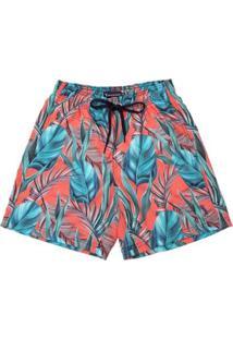 Shorts Aleatory King Masculino - Masculino-Laranja