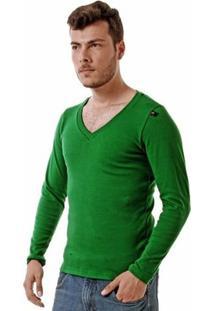 Camiseta Oitavo Ato Decote V Manga Longa Masculina - Masculino