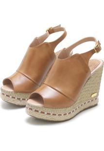 Sandália Sb Shoes Ancoboot Anabela Ref.3400 Whisky - Kanui