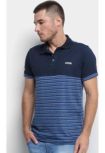 Camisa Polo Fatal Listrada Masculina - Masculino