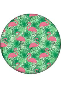 Tapete Love Decor Redondo Wevans Multi Flamingos 94Cm