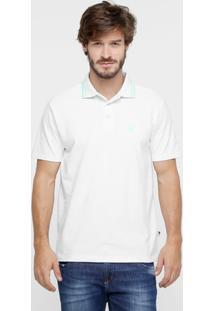 9517a307c ... Camisa Polo Cavalera Básica Bordado Masculina - Masculino-Branco+Verde  Água
