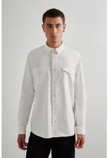 Camisa Reserva Flanela Rio Masculino - Masculino-Off White