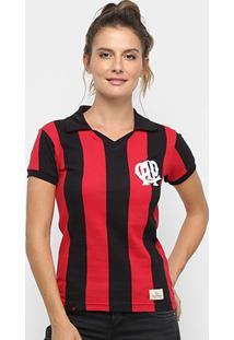 Camiseta Athletico Paranaense Retrô 1990 Feminina - Feminino