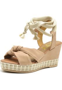 Sandália Anabela Ousy Shoes Corda Confort Feminina - Tricae