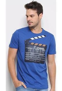 Camiseta Forum Studios Masculina - Masculino-Azul