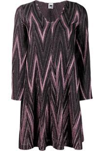 M Missoni Zig-Zag Lurex Knit Dress - Rosa