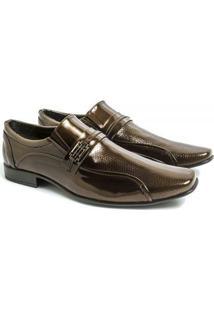 Sapato Social Venetto Elegante Classic Conforto - Masculino-Bronze
