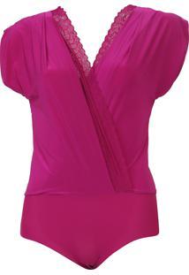 Body Liz Transpasse Renda Pink