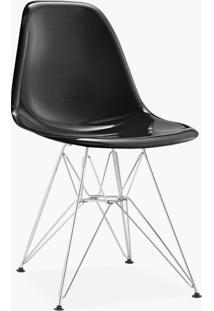 Cadeira Eames Dsr - Fibra De Vidro Preto