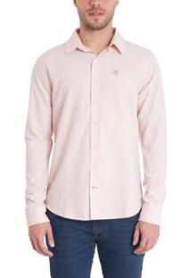 Camisa Timberland Mill River Linen Shirt Regular Masculina - Masculino-Rosa
