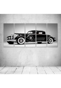 Quadro Decorativo - Vintage Black Car - Composto De 5 Quadros - Multicolorido - Dafiti