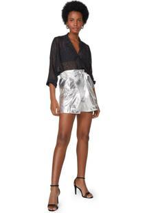 Shorts Alongado Foil