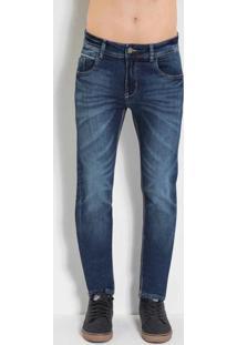 Calça Skinny Sawary Com Bolsos Jeans
