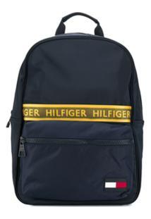 Tommy Hilfiger Logo Tape Backpack - Azul
