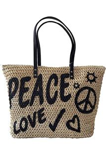 Bolsa Shopper Palha Peace Love