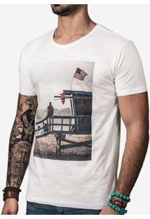 Camiseta Hermoso Compadre Life Guard Masculina - Masculino-Off White