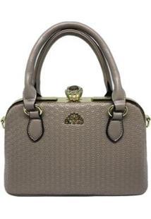 Bolsa Casual Sys Fashion 8534 Feminina - Feminino-Marrom Claro
