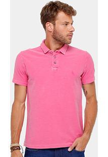 Camisa Polo Reserva Flamê Tinturada Masculina - Masculino-Pink