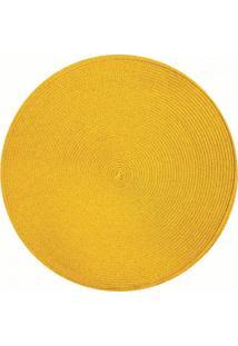 Jogo Americano Redondo 38 Cm Amarelo Tyft