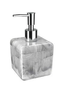 Porta-Sabonete Líquido Cube 8,5 X 8,5 X 15 Cm 330 Ml Mármore Branco Coza