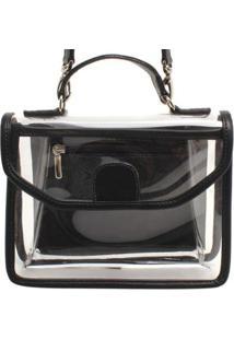 Bolsa Pequena Cristal - Feminino-Branco