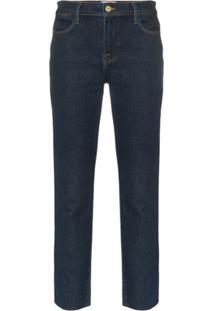 Frame Calça Jeans Reta 'Le High' - Azul