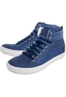 Bota Couro Dafiti Shoes Azul