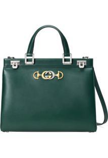 Gucci Bolsa Tote Zumi Média - Verde