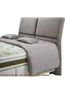 Cabeceira Super Confort Zevi Cinza Casal 1,60 Mt (Larg) - 49421 Sun House