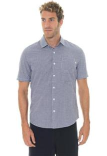 Camisa Timberland Suncook River Small Gingham Slim Masculina - Masculino-Azul Escuro