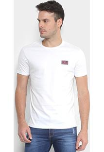 Camiseta Calvin Klein Logo Masculina - Masculino-Branco