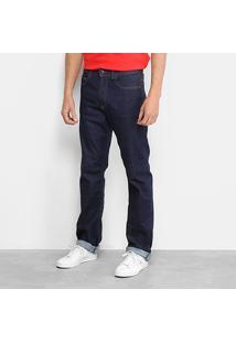 Calça Jeans Reta Lacoste Lisa Masculina - Masculino-Jeans