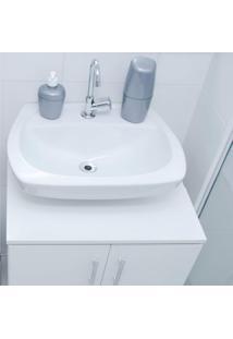 Kit Acessórios Para Banheiro Plástico 2 Peças Astra Prata