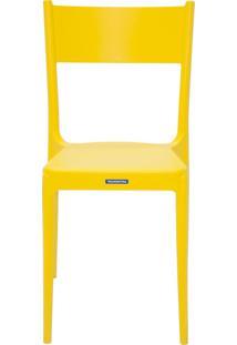 Cadeira Diana Satinada Sem Braços Amarelo Tramontina