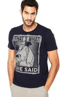 Camiseta Fashion Comics Mutley Azul-Marinho