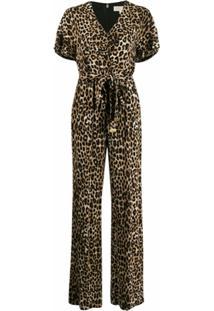 Michael Michael Kors Macacão Com Estampa De Leopardo - Marrom