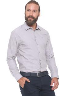 Camisa Forum Reta Listras Cinza