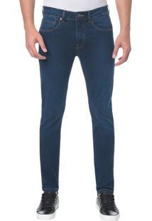 Calça Jeans Five Pockets Skinny - Marinho - 42