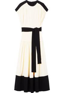 Proenza Schouler Vestido Mangas Curtas - Branco