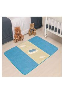 Passadeira Premium Urso Baby-Azul 1,20M X 0,74Cm
